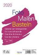 Cover-Bild zu Foto-Malen-Basteln Bastelkalender A5 weiß 2020