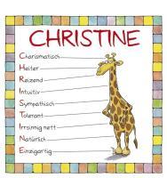Cover-Bild zu Namenskalender Christine von Mayr, Johann (Illustr.)