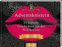 Cover-Bild zu Adventskalender Adventsknistern. 24 lustvolle Geschichten aus der Weltliteratur. Ein Buch zum Aufschneiden