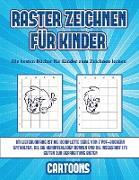 Cover-Bild zu Manning, James: Die besten Bücher für Kinder zum Zeichnen lernen (Raster zeichnen für Kinder - Cartoons): Dieses Buch bringt Kindern bei, wie man Comic-Tiere mit Hilf