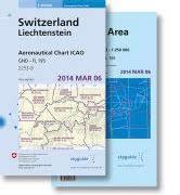 Cover-Bild zu Aeronautical Chart ICAO Switzerland - Liechtenstein / Aero Chart ICAO Zurich Area + Geneva. 1:500'000 / 1:250'000