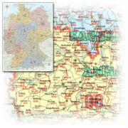 Cover-Bild zu Deutschland Postleitzahlenkarte. 1:700'000