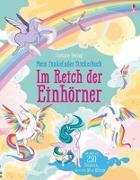 Cover-Bild zu Mein funkelndes Stickerbuch: Im Reich der Einhörner von Watt, Fiona