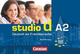 Cover-Bild zu Studio d, Deutsch als Fremdsprache, Grundstufe, A2: Gesamtband, Vokabeltaschenbuch Deutsch-Englisch