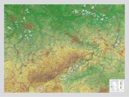 Cover-Bild zu Reliefkarte Sachsen Gross 1 : 325.000 von Markgraf, André