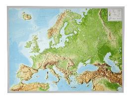 Cover-Bild zu Reliefkarte Europa Gross 1 : 8.000.000 mit Aluminium Rahmen von Markgraf, André