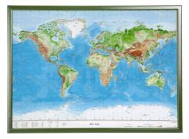 Cover-Bild zu Welt Gross 1:53.000.000 mit Holzrahmen von Markgraf, André