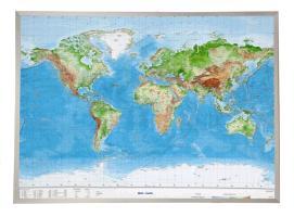 Cover-Bild zu Welt Gross 1 : 53.000.000 mit Aluminiumrahmen von Markgraf, André