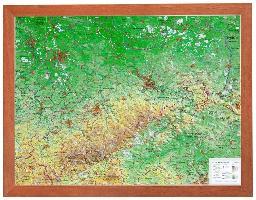 Cover-Bild zu Relief Sachsen 1:650.000 mit Holzrahmen von Markgraf, André