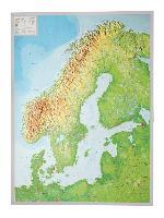 Cover-Bild zu Relief Skandinavien 1:2.900.000 mit Aluminiumrahmen von Markgraf, André