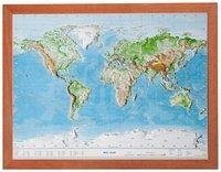 Cover-Bild zu Relief Welt 1:107 MIO mit Holzrahmen von Markgraf, André