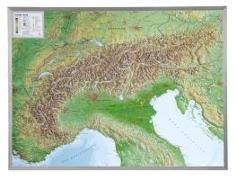 Cover-Bild zu Alpen 1 : 1 200 000 Aluminium Rahmen von Markgraf, André