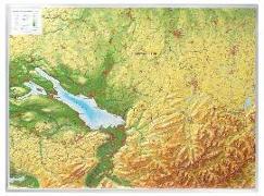 Cover-Bild zu Relief Allgäu Bodensee 1:200.000 (ohne Rahmen) von Markgraf, Andrè