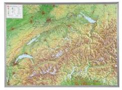 Cover-Bild zu Schweiz 1 : 500 000 mit Aluminium Rahmen von Markgraf, André