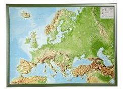 Cover-Bild zu Reliefkarte Europa Gross 1 : 8.000.000 mit Rahmen von Markgraf, André