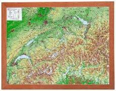 Cover-Bild zu Relief Schweiz klein 1:1 MIO mit Holzrahmen von Markgraf, André