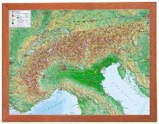 Cover-Bild zu Relief Alpen 1:2.4MIO mit Holzrahmen von Markgraf, André