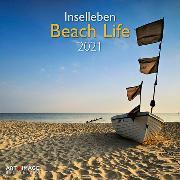 Cover-Bild zu teNeues Calendars & Stationery GmbH & Co. KG: Beach Life 2021 - Wand-Kalender - Broschüren-Kalender - A&I - INT - 30x30 - 30x60 geöffnet