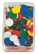 Cover-Bild zu ALCO Reissnägel mit Celluloidkopf Stella Color, farbig sortiert