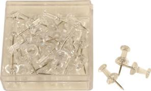 Cover-Bild zu ALCO Pinnwand Nadeln, klar transparent 40 Stück