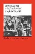 Cover-Bild zu Who's Afraid of Virginia Woolf? von Albee, Edward