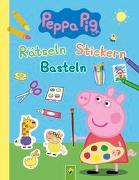 Cover-Bild zu Peppa Pig Rätseln Stickern Basteln