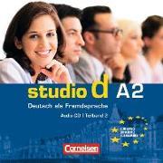 Cover-Bild zu Studio d, Deutsch als Fremdsprache, Grundstufe, A2: Teilband 2, Audio-CD