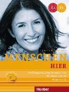 Cover-Bild zu Menschen hier. Prüfungstraining Deutsch-Test für Zuwanderer mit Audio-CD von Werff, Frauke van der