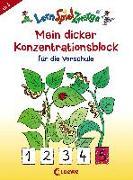 Cover-Bild zu LernSpielZwerge - Mein dicker Konzentrationsblock für die Vorschule von Loewe Lernen und Rätseln (Hrsg.)
