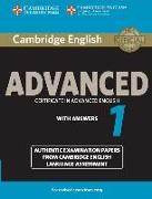 Cover-Bild zu Cambridge English Advanced 1 for Revised Exam from 2015 Student's Book with Answers