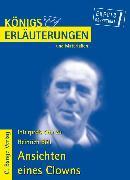 Cover-Bild zu Ansichten eines Clowns von Heinrich Böll. Textanalyse und Interpretation (eBook) von Böll, Heinrich