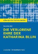 Cover-Bild zu Die verlorene Ehre der Katharina Blum von Heinrich Böll. Textanalyse und Interpretation mit ausführlicher Inhaltsangabe und Abituraufgaben mit Lösungen (eBook) von Böll, Heinrich