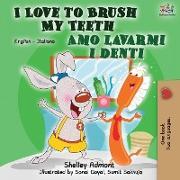 Cover-Bild zu I Love to Brush My Teeth Amo lavarmi i denti von Admont, Shelley
