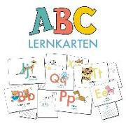 Cover-Bild zu ABC-Lernkarten der Tiere, Bildkarten, Wortkarten, Flash Cards mit Groß- und Kleinbuchstaben von Wirth, Lisa