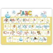 Cover-Bild zu Hochwertiges ABC-Mini-Lernposter der Tiere (32,4 x 45,8 cm): Stabiler Karton, folienbeschichtet, abwischbar von Wirth, Lisa