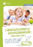 Cover-Bild zu Einfach schnelle Aufsatzübungen für Klasse 2 bis 4 von Moers, Edelgard