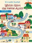 Cover-Bild zu Mein großes Spurbuch - Wohin fährt das kleine Auto? von Schmalz, Rebecca