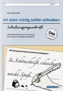 Cover-Bild zu Ich kann richtig schön schreiben - Schulausgangsschrift SAS von Langhans, Katrin