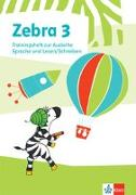 Cover-Bild zu Zebra 3. Trainingsheft zur Ausleihe. Sprache und Lesen / Schreiben Klasse 3
