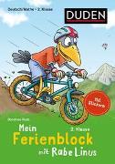 Cover-Bild zu Mein Ferienblock mit Rabe Linus - Fit für die 2. Klasse von Raab, Dorothee