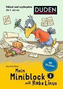 Cover-Bild zu Mein Miniblock mit Rabe Linus - Rätsel und Logikspiele von Raab, Dorothee