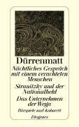 Cover-Bild zu Nächtliches Gespräch mit einem verachteten Menschen / Stranitzky und der Nation von Dürrenmatt, Friedrich