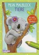 Cover-Bild zu Mein Malblock Tiere von Muszynski, Eva (Illustr.)