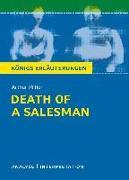Cover-Bild zu Death of a Salesman - Tod eines Handlungsreisenden von Arthur Miller. Textanalyse und Interpretation mit ausführlicher Inhaltsangabe und Abituraufgaben mit Lösungen (eBook) von Leidig, Dorothée