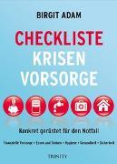 Cover-Bild zu Checkliste Krisenvorsorge von Adam, Birgit