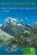 Cover-Bild zu Wander- und Bikekarte Maderanertal von Kanton Uri (Hrsg.)