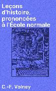Cover-Bild zu eBook Leçons d'histoire, prononcées à l'École normale