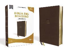 Cover-Bild zu Reina Valera 1960 Santa Biblia del Ministro, Leathersoft, Café, Interior a dos colores von Vida,