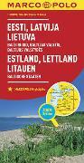 Cover-Bild zu MARCO POLO Länderkarte Estland, Lettland, Litauen, Baltische Staaten 1: 800 000. 1:800'000