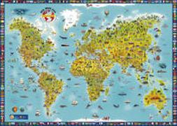 Cover-Bild zu MARCO POLO Panorama Kinderweltkarte plano. 1:0
